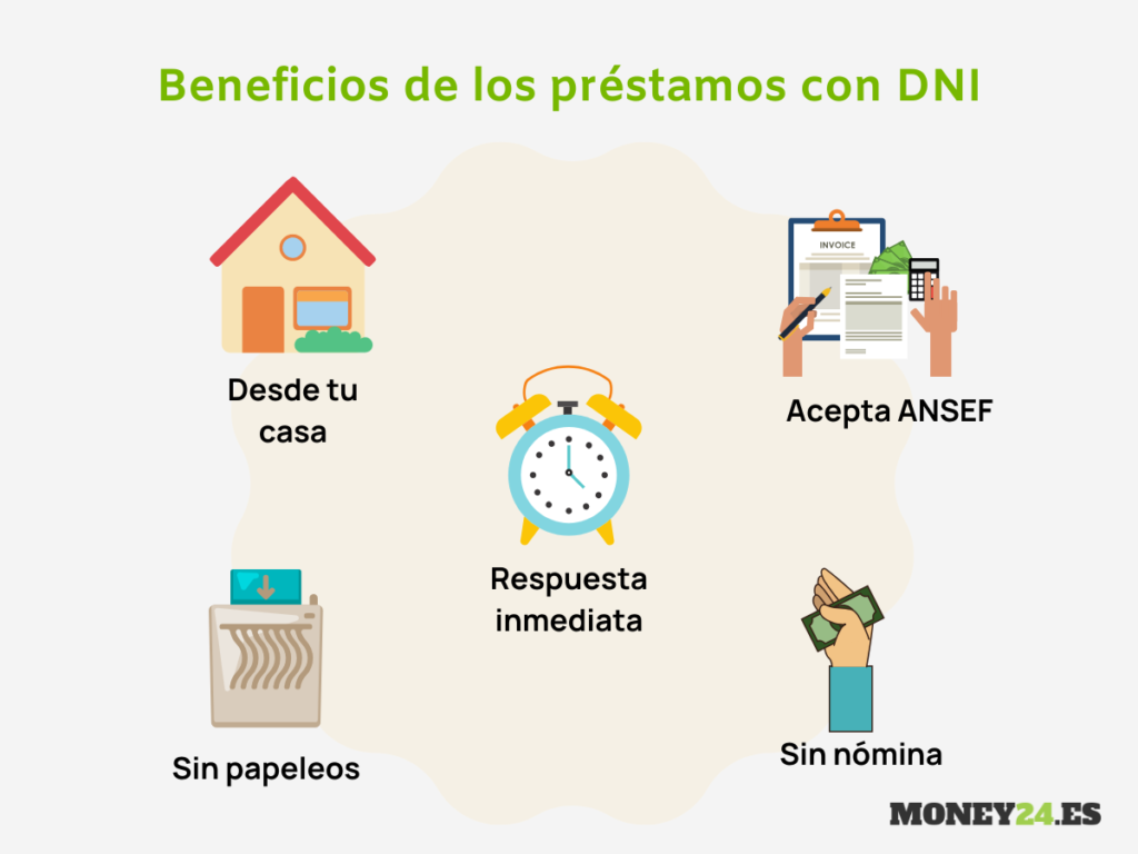 beneficios de prestamo con DNI