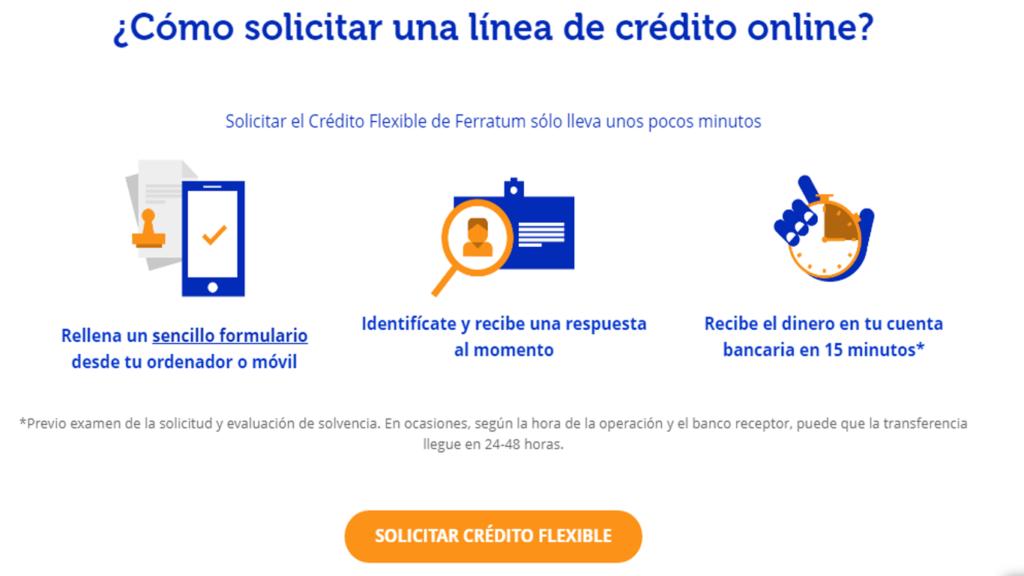 Cómo solicitar una línea de crédito online en Ferratum Bank