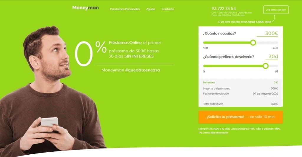Simulador web de Money Man