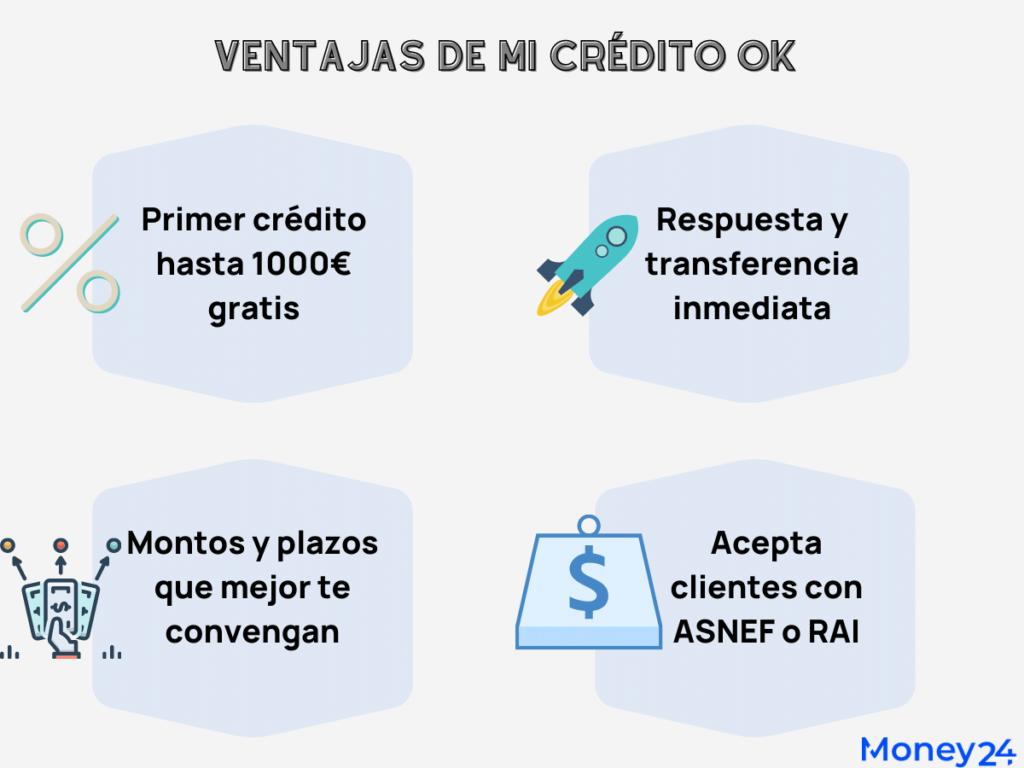 Mi Crédito Ok - Ventajas