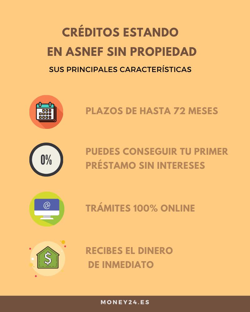 Principales características de préstamos con ASNEF sin propiedad