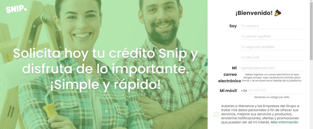 snipcred formulario