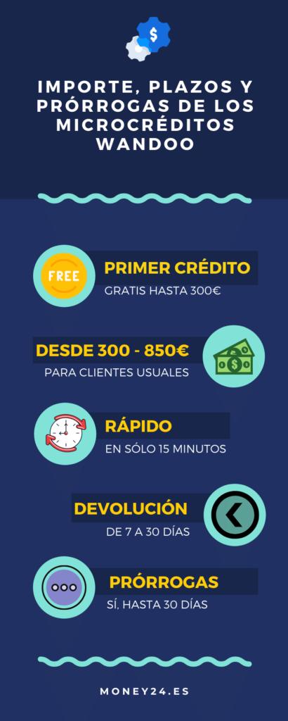 Plazos, importe y prórrogas Wandoo Infografía