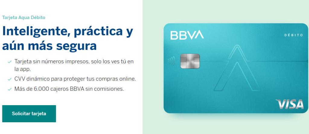 Tarjeta débito BBVA Aqua