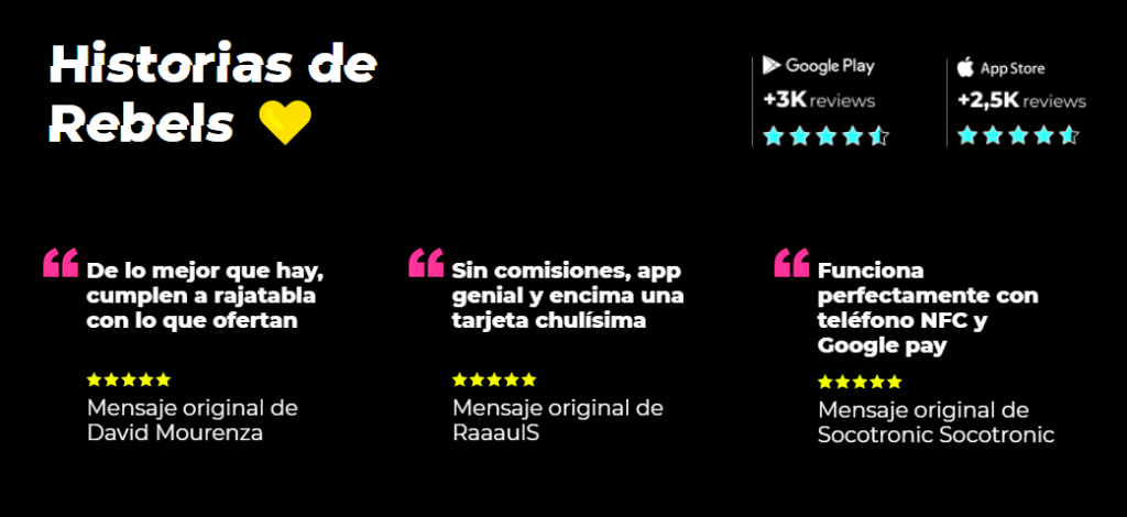 Opiniones Rebellion Pay